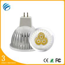 3w/4w/5w/6w/9w aluminum warm white 15/30/60/90 degree mr16 led spot light with 3 years warranty