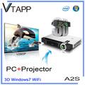 Vtapp a2s 2014 alta- producto de tecnología windows proyector inalámbrico teclado del ordenador portátil pegatinas