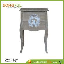 2014 hot sell paulownia veneer shabby chic free standing vintage paint wood veneer furniture