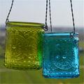 Clear color corrente de ferro castiçal