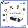 Vtapp a2s 2014 alta- tecnologia de produto windows projetor sem fio portátil usado