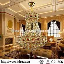 hanging crystal antler chandelier ,lighting decorative pendant,crystal chandelier light modern gold