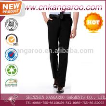 Hot sale mens black slim fit formal suit pants