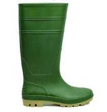 PVC knee high Men green wellies