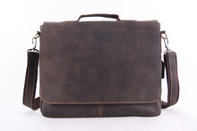 15'' Genuine Cow Leather Briefcase, 2014 New Fashion Men's Messenger Bag, Laptop Handbag 7108