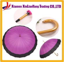 24K Wooden Umbrella Vintage style Umbrellas Purple Golf Umbrellas