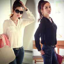 Lowest price gift chiffon long sleeve shirt tops blouse t shirt manufacturing SV002219