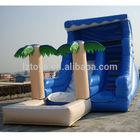 Palm tree inflatable pool slide
