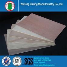 Best price wood veneered hardboard / wood veneer faced hardboard