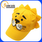 sunny shine funny chidren baseball cap animal pattern hats