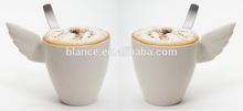 ceramic couple mug with wing