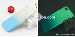 Wholesales Gradient Color Transparent Matte Design Hard PC Plastic Skin Case For Apple iPhone 5 5s