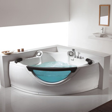 FC-210 Double whirlpool bathtubs, corner shape model