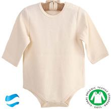 Long Sleeve Plain Newborn Organic Cotton Baby Clothing