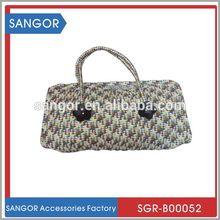 Best design innovative new design sequins corn husk straw bag
