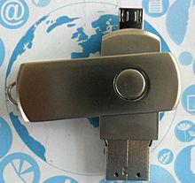 Metal swivel OTG USB Flash Drive custom logo 8gb 16gb 32gb