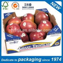 corrugated cardboard apple carton box