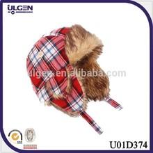 2015 Hot selling children faux fur earflap trapper hats