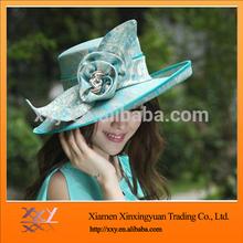Unique Brim Design Floppy Lady Hat With Flower for women