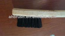 black lacquered wooden handle paint brush/ pig hair brush/ block brush glue brush for hull surface