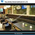 De mármol blanco de mesa de comedor/coffee shop mesas y sillas