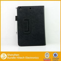 Luxury leather case for ipad mini 2, leather case for mini ipad
