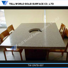 Cheap!!!2014 hot sale White Solid surface matt dining table,korean dining table