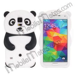 for Samsung Galaxy S5 Accessories, Cute 3D Panda Soft Silicone Case for Samsung Galaxy S5 I9600 Case
