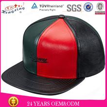Colorful design free custom snapback leather