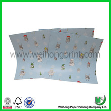 Glossy light blue logo printed wrapping paper
