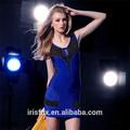 azul royal cortar bodycon backless vestido vestidos de baile baratos