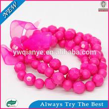 2014 irregular and faceted rose bead bracelet