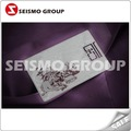 z-fine metal business card / metal name tag with a hole hollow flower metal business card