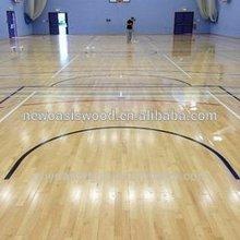 Oak Outdoor Basketball Flooring