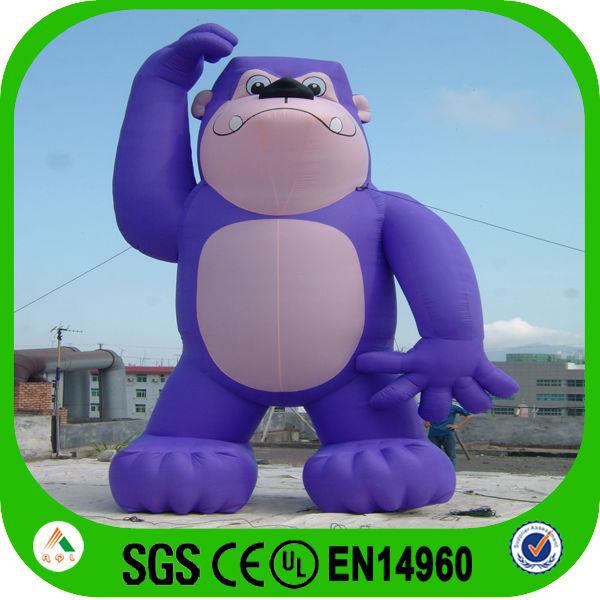 Cartoon Purple Gorilla Inflatable Gorilla Cartoon