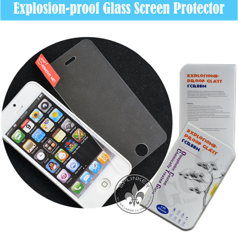 Delicate Touch Perfect Adhesion Real Glass Toughened Glass Screen Sticker Protector For iPhone 6 G1001-51