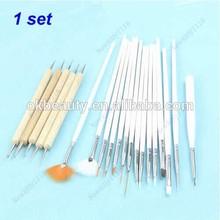 20pcs Nail Art Design Painting Dotting Pen Brushes Tool Kit