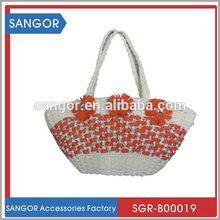 Best design classical gorgeous corn husk straw bag