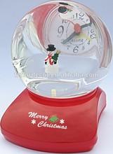 promotional alarm clock liquid alarm clock chirstmas decorative liquid desktop clock