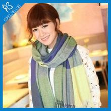 Fashion plaid European desigual big cashmere scarf