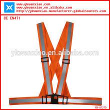 High-vis Adjustable Reflective Belt With 100% Polyester Elastic Stripe