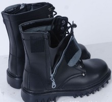 anti riot police boots, cow leather police security boot shoes, high rubber safety boot shoes with metal toe cap