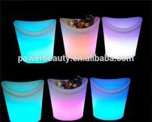 Plastic LED Illuminated Ice Bucket/Clear acrylic cooler