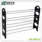 4 tier folding double sided shoe rack