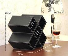 PU faux leather Wine Rack ,Wine holder,wine glassholder lanyard