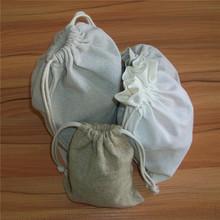 large drawstring bags/blank cotton linen drawstring bag with logo