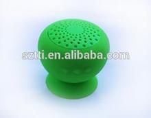 2014 creative wireless portbale mini mushroom suction car bluetooth speaker woofer, bluetooth shower speaker