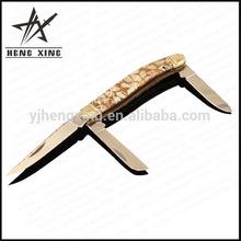 high quality natural shell acrylic handle pocket knife