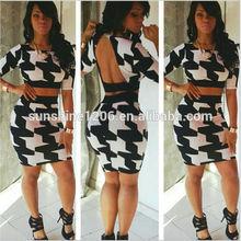 2014 Whole Sale Women Sexy Plus Size Club Dresses