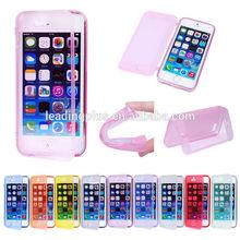 soft flip TPU case for iphone 6 case Flip ,Gel Case for iPhone 6